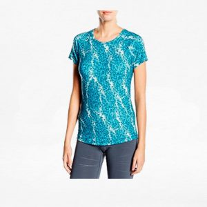 Playera Puma Essential Graphic Triangulos Azul Mujer - Run4You.mx