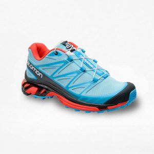 Tenis Salomon Wings PRO Azul/Rojo Mujer - Run4You.mx