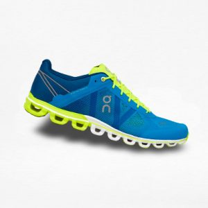 Tenis On Cloudflow Azul/Lima - Run4You.mx
