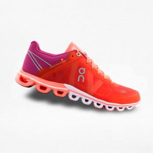 Tenis On Cloudflow Naranja/Rojo - Run4You.mx