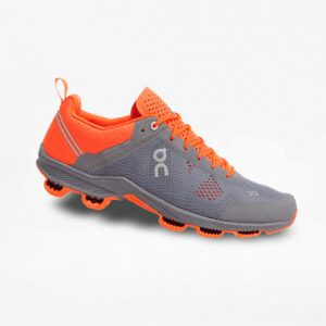 Tenis On Cloud Gris/Naranja - Run4You.mx