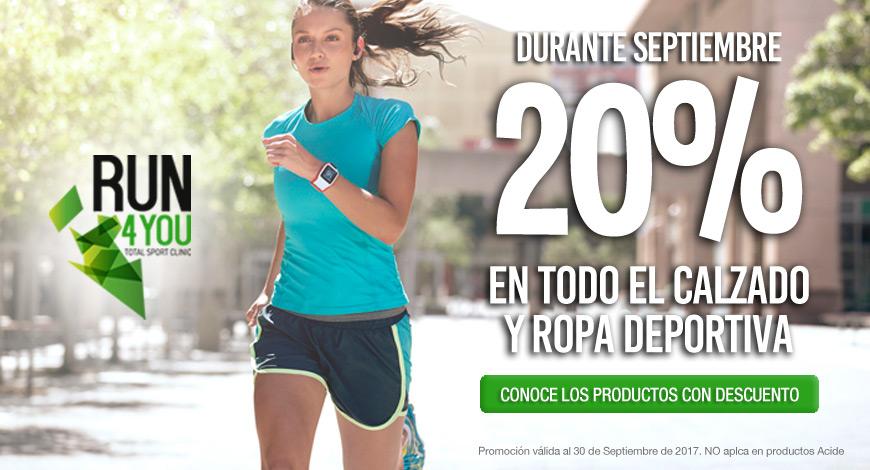 Durante septiembre 20% de descuento en calzado y ropa deportiva