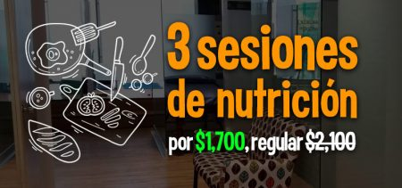 Banner 3 sesiones nutrición $1700 - Run4you.mx