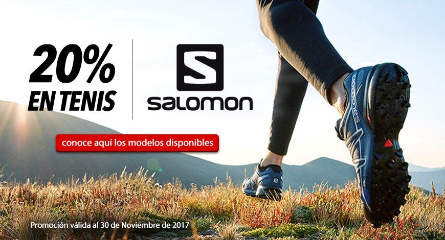 Promoción - 20% de descuento todos los tenis SALOMON